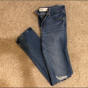 Abercrombie Skinny Distressed Light Wash Jeans